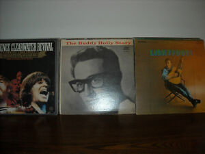 LP's AND 45's FEATURING THE BUDDY HOLLY STORY