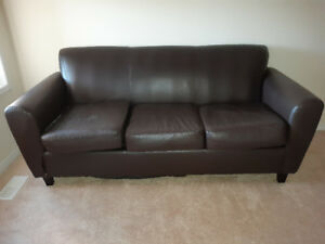 bb07a870e7 Used bonded leather brown sofa