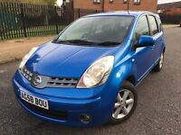 2008 (58) NISSAN NOTE ACENTA 1.4 MOT9/8/2017 2 KEYS SERVICE HISTORY LAST @135,391 LOTS OF PAPER WORK