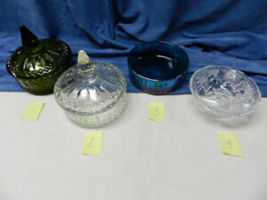 Depression Glass Candy Dishes with Lids - Kanata