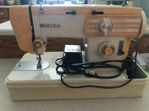Vintage white sewing machine