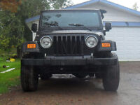 Ready for winter 06 Jeep TJ 4x4 ( sell OR trade)