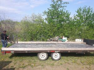 Flat deck trailer 20 foot trailer