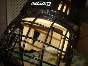 2 NICE HOCKEY HELMUTS WITH CAGE & CHIN GUARDS Windsor Region Ontario image 2