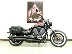 2014 Victory Motorcycles High-Ball Suede Black with Flames
