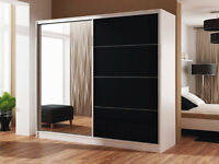 **7-DAY MONEY BACK GUARANTEE!** - Wisconsin Heavy Sliding Door Wardrobe - BRAND NEW! RRP£699!
