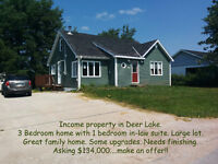 GREAT OPPORTUNITY TO HAVE HOME AND INCOME IN DEER LAKE