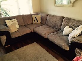 DFS CORNER SOFA UNIT AND FOOTSTOOL with storage