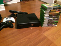 Xbox 360 with Kinects, 2 controllers and 17 games