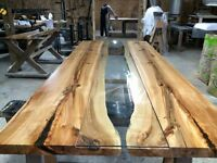 REVERSED LIVE EDGE HARVEST TABLE OR BOARDROOM TABLE COFFEE TABLE
