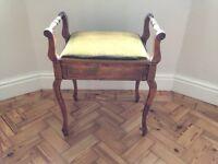 Dark oak piano stool