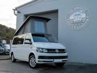 VW T6 LWB Highline Campervan *Austops Pop Top* Twin Slider in Candy White