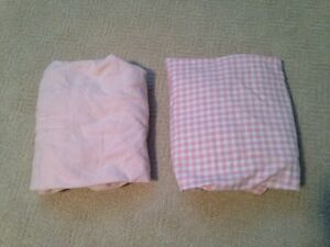 Two Pink Fitted Crib Sheets