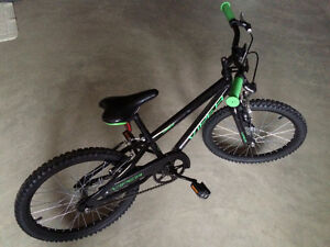 "Extreme Viper Youth Mountain Bike 20"" - Green Black with extras"