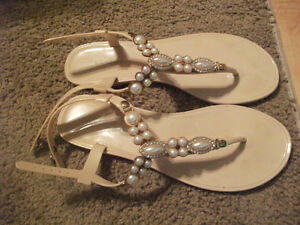 Nude Fashion Sandals Size 7