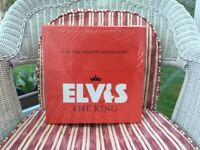 ELVIS PRESLEY. VERY RARE. 18 OF THE GREATEST SINGLES EVER. LIMITED EDITION UK SINGLES RED BOX.