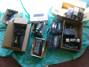 Assorted car stereos and speakers