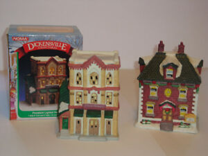 Dickensville Christmas Village Dress Shoppe and Doctor`s Office