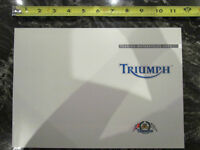 TRIUMPH 2002 TOURING MOTORCYCLE BROCHURE CATALOG