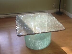 Original Silastial Shatter Glass Coffee Table