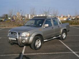 2004 NISSAN NAVARA 3.0 TD 4X4 DOUBLE KING CAB PICK UP TRUCK D22 AIR CON EXPORT