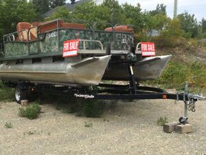 21' pontoon boat for sale