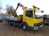 Mercedes Atego 815 Day DROPSIDE WITH CRANE - 2008 FASSI F50