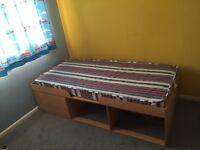 Storage bed and wardrobe
