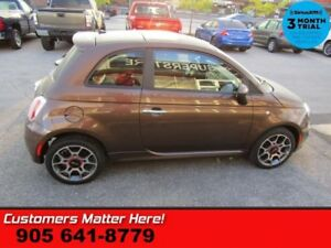 2012 Fiat 500 Sport  MANUAL LEATHER ROOF BLUETOOTH ALLOYS