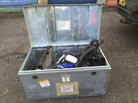 Large metal box full of Nissan micra spare parts