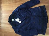 """New! Roxy """"moonlight Peacoat  jacket"""" women's size small"""