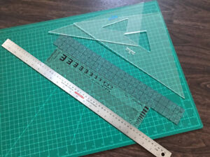 Cutting Mat (24x18 in) and Rulers