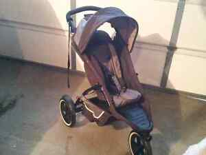 Phil&Teds Dash double stroller with Peg Perego attachment