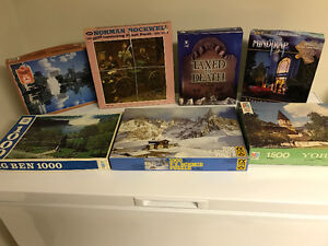 Norman Rockwell, MindTrap and Bepuzzled Jigsaw Puzzles.