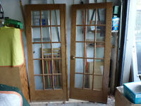 Oak french doors must sell