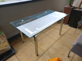 Glass Dining Table - 150X80 CM