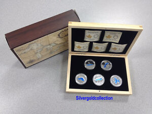 RCM-The Great Lakes Series 5 coins Set with Case