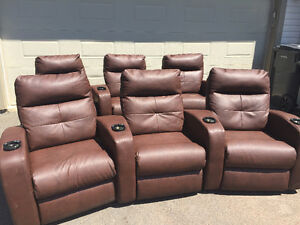 Home theatre seating - 6 chairs