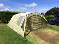 Vango Airbeam Evoque 600 6 man tent plus canopy and footprint.