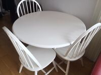 IKEA round dinning table and chairs