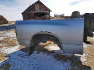 Dodge Ram Truck Bed with Bumper Hitch and Flaps