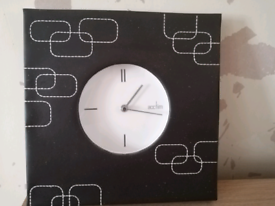 Faux leather clock