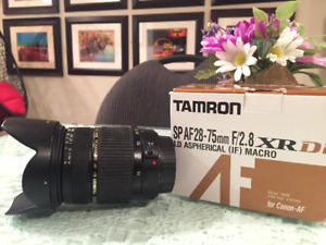 Tamron 28-75mm f2.8 lens for canon mount