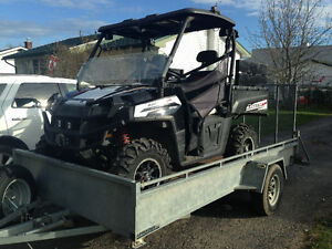 Polaris ranger xp800 and 6/12  utility trailer
