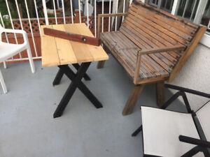 Hand made Recycled wood  furniture in  East Vancouver