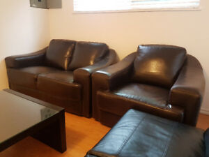Update: futon is sold! Sofa set and coffee table still available