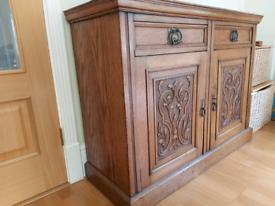 SOLD: Oak cupboard/sideboard £120 ONO