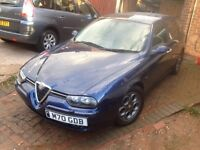 Alfa Romeo 156 2.4 Diesel Sportwagon swap for 2 seater cabriolet Z3 etc, motorbike try me