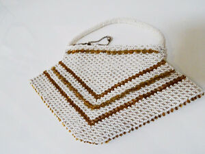 ART DECO beaded HANDBAG Czechoslovakia CHEVRON PATTERN 1920s-40s Kitchener / Waterloo Kitchener Area image 2