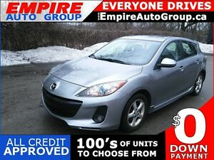 2012 MAZDA 3 I TOURING * LEATHER * SUNROOF * BLUETOOTH * LOW KM